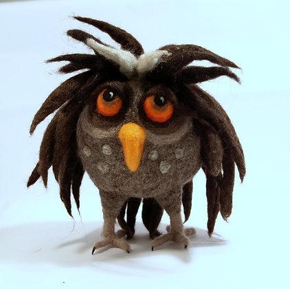 Berta, original hand made needle felted owl