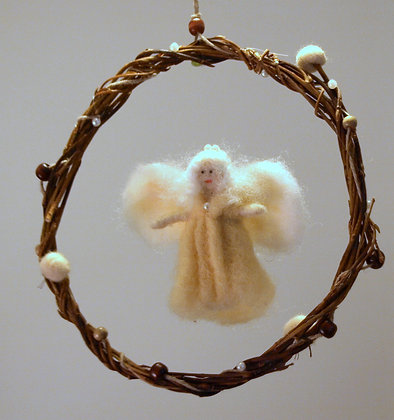 Needle felted fairy mobile, Vanilla fairy