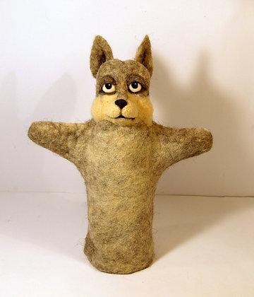 Wolf glove puppet