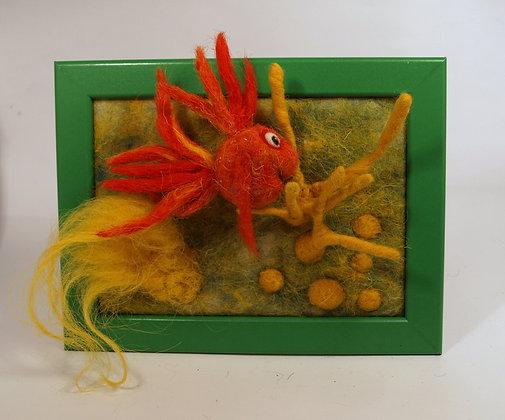 Framed Marigold fish