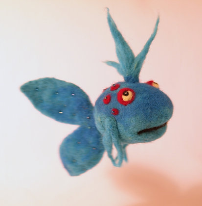 Neon Scented Needle Felted Fish
