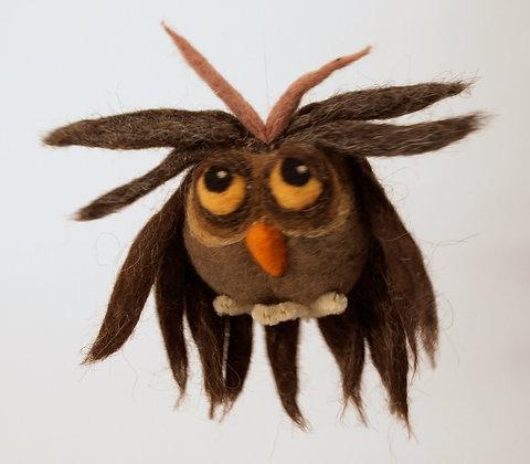 Ćuksi needle felted owl