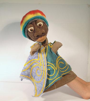 Rastaman hand puppet
