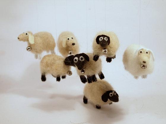 Mini needle felted sheep