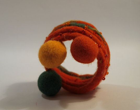 Bumble felted bracelet