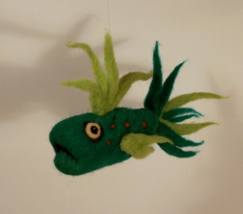 Buddy Scented Needle Felted Fish