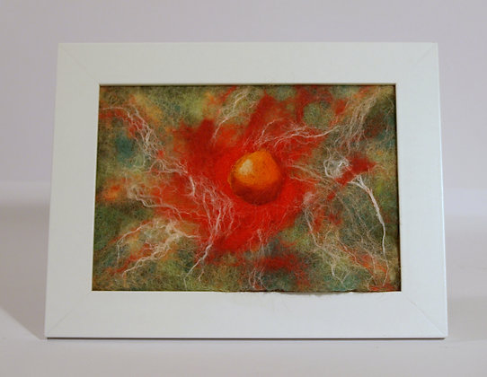 Nebula, Felted art picture