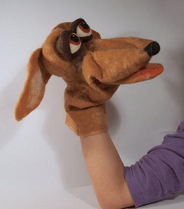 Vinny the dog, original hand made puppet