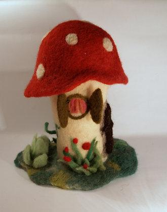 Needle Felted Mushroom House