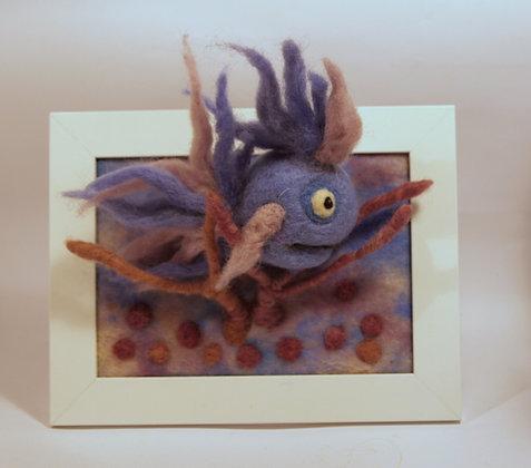 Framed Lilac fish