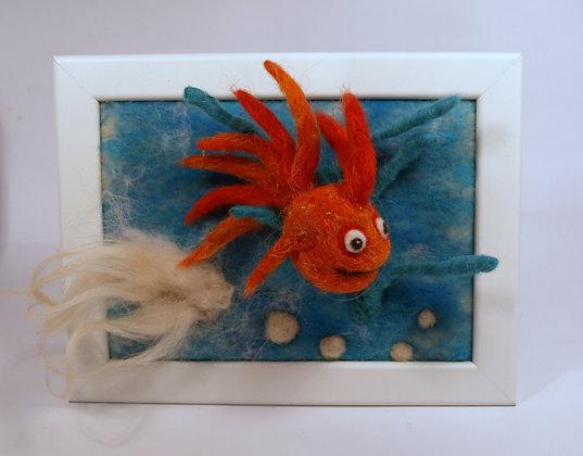 Framed Crayola fish