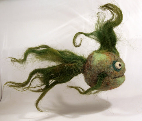 Asparagus Scented Needle Felted Fish