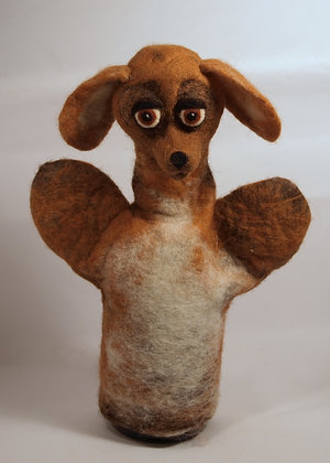 Doby the dog, original hand made puppet