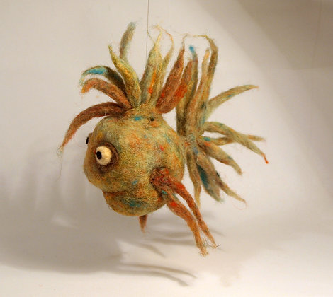 Dusty Scented Needle Felted Fish