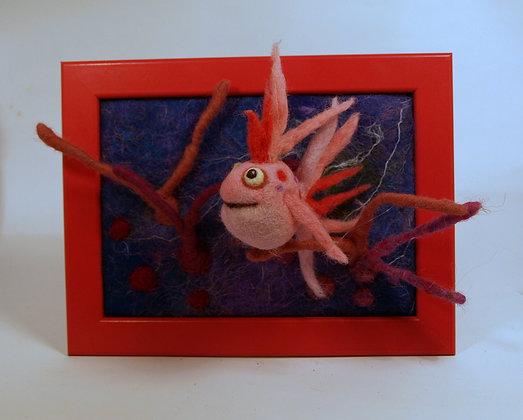 Framed Cerise fish