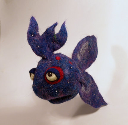 Amethyst Scented Needle Felted Fish