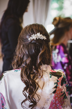 bridal half up hairstyle New Forest