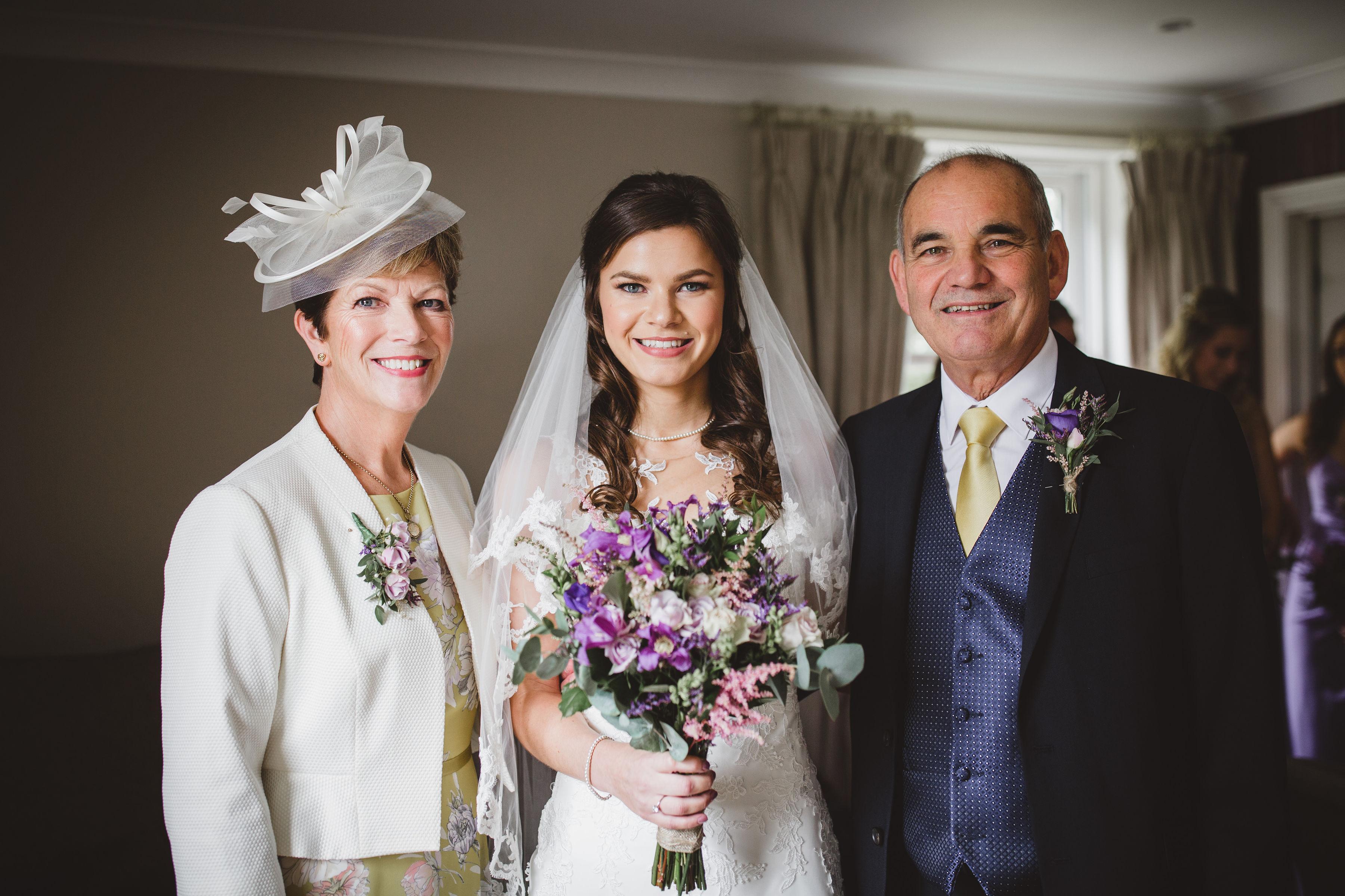 Bride and mum hair and makeup