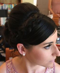 bridemaid hair with braid detail