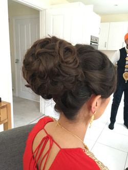 bridal high bun hairstyle