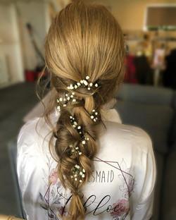 bridesmaid braided hairstyle
