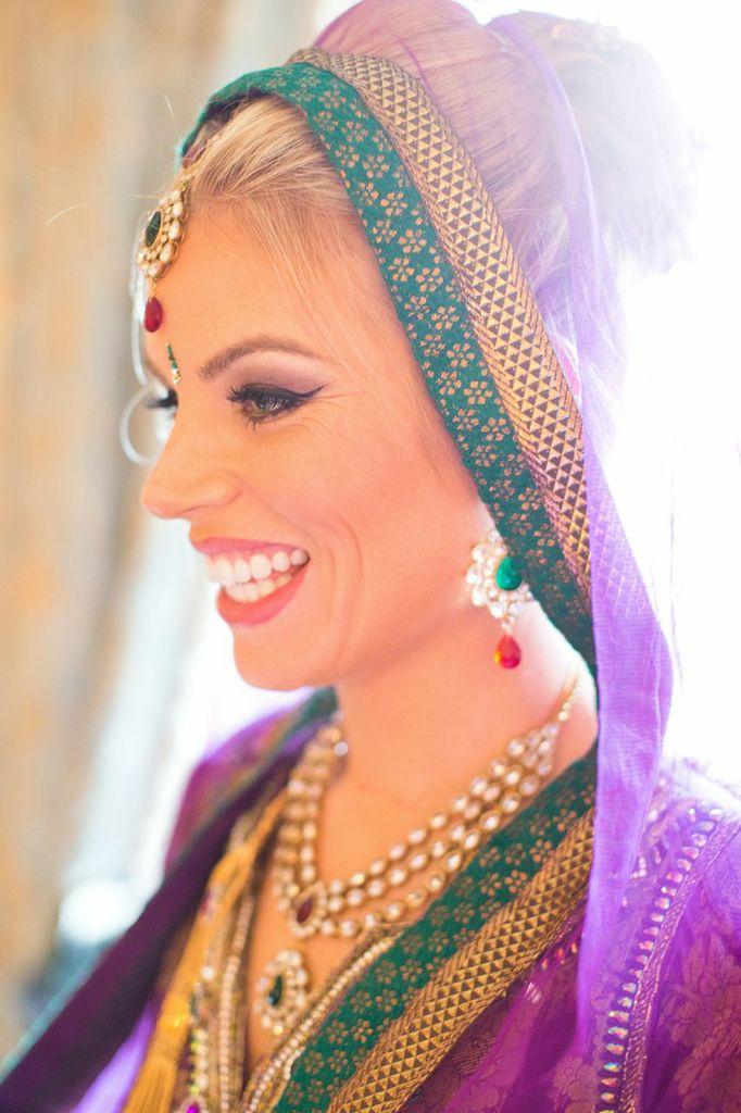 Asian ceremony bridal makeup