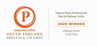 nipona khan makeup artist of the year 2020 prestige awards