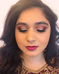 Asian wedding guest glamour makeup