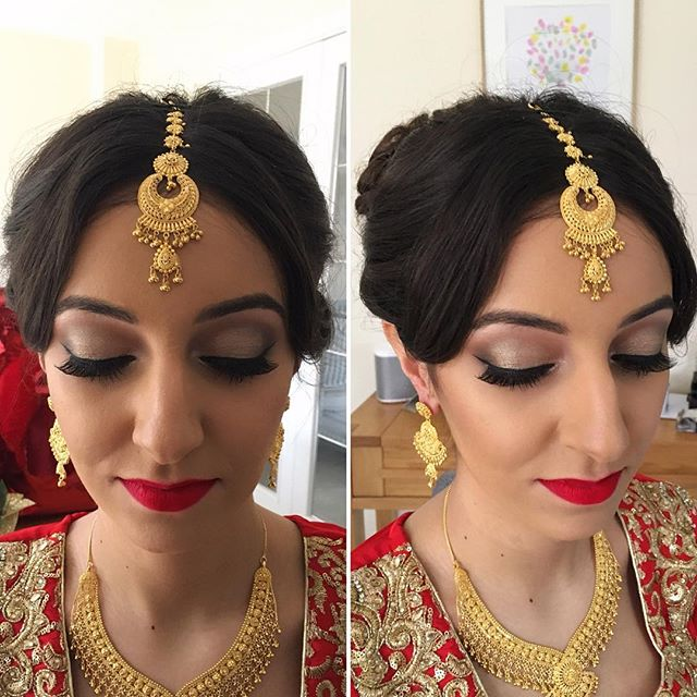 Asian bridal hair and makeup Hampshire