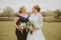 Bride and family makeup