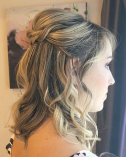 twisted half up wedding hair