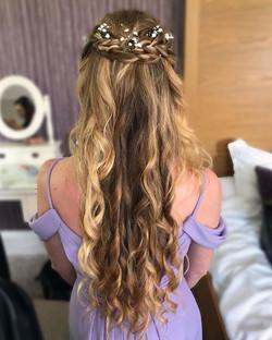 half up bridesmaid hairstyle