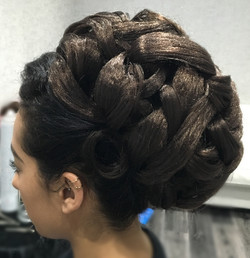 Asian full glamour hair up hairstyle