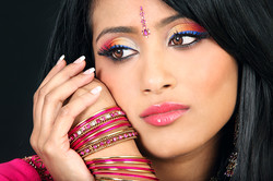 full glamour colourful makeup