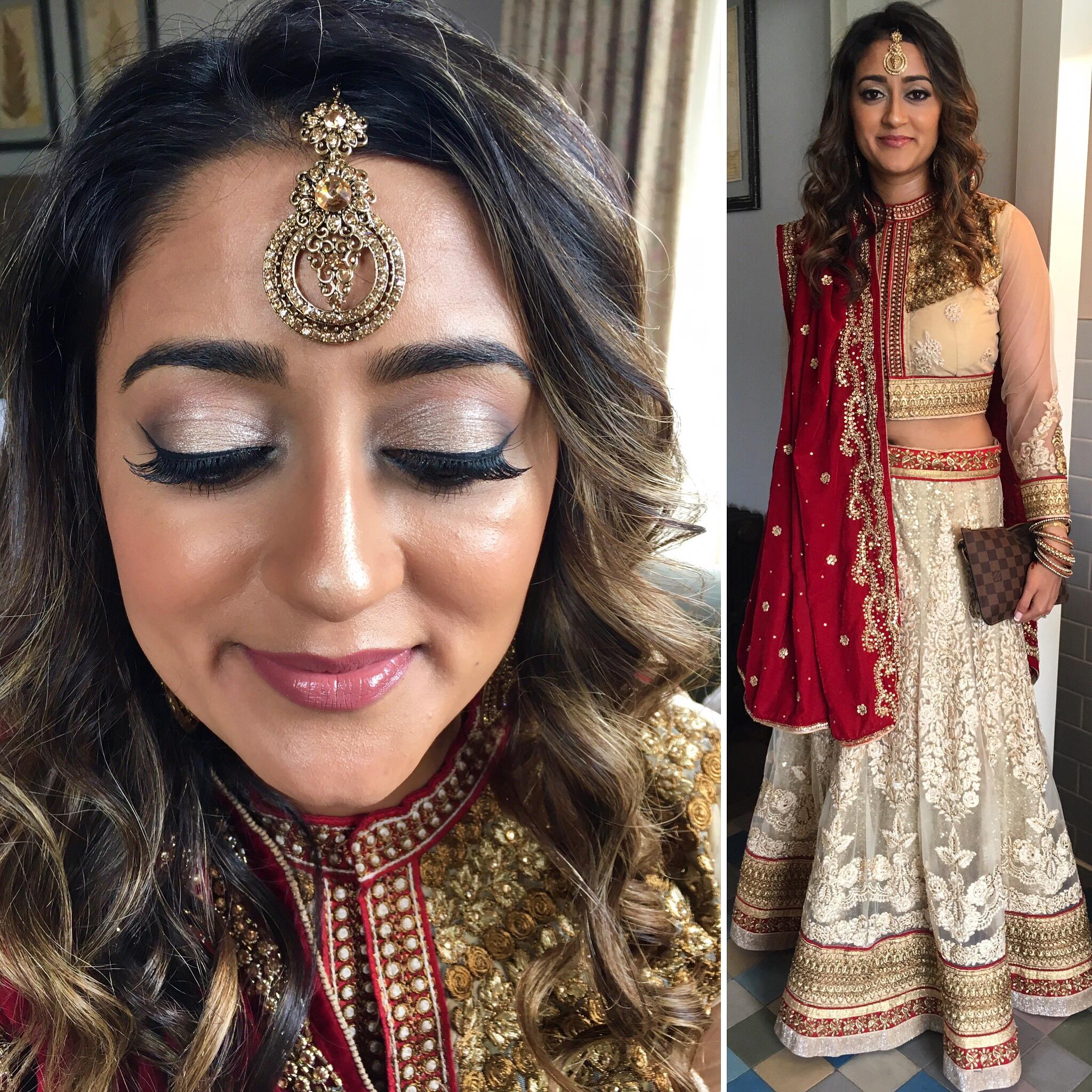 natural Asian bridal hair and makeup