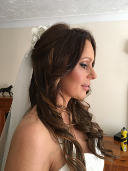 bridal curls hairstyle