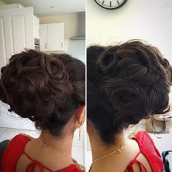 bridal glamorous high bun hairstyle