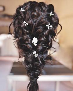 textured braided bridesmaid hairstyle