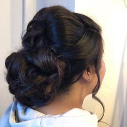 glamorous updo hairstyle