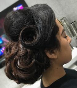 Asian bridal hair up practise