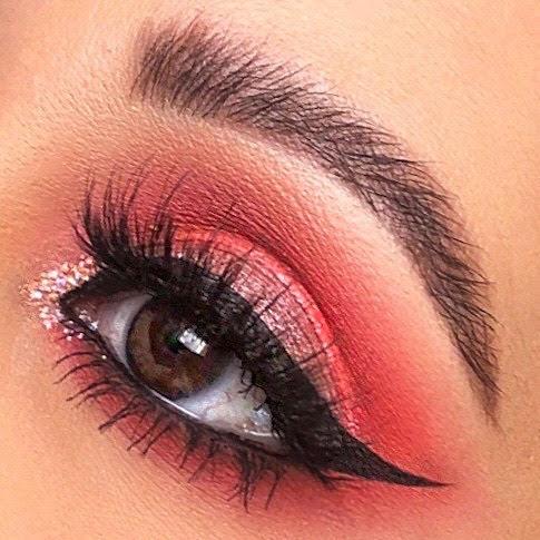 coral eyemakeup