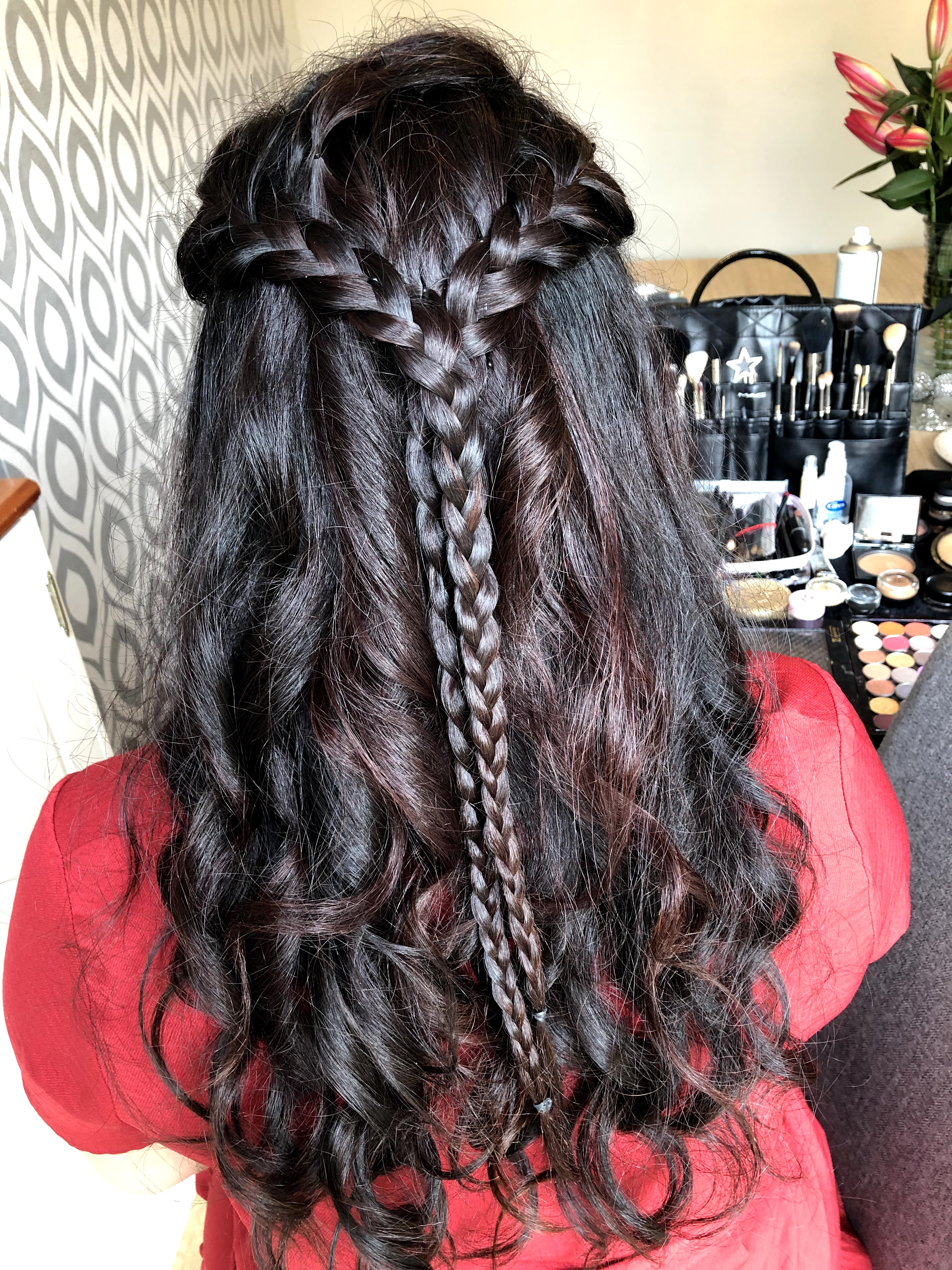 Plaited hairstyle