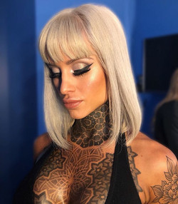 Competition glamour makeup
