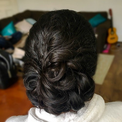 low bun glamour party hairstyle