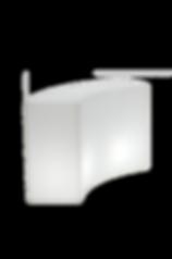 RIKILA EVENTS Paris Location banque d'accueil lumineux comptoir bar blanc
