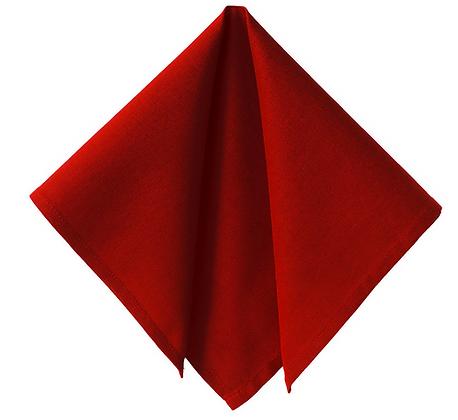 serviette rouge en coton