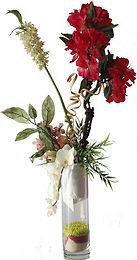 Location composition florale haute pour buffet fleurs colorées pas chere