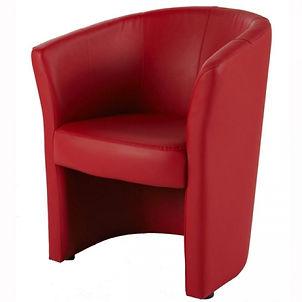 RIKILA EVENTS Paris Location fauteuil rouge similicuir pas cher