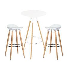 RIKILA EVENTS Paris location mobilier suedois, tabouret, mange debout, bois, blanc