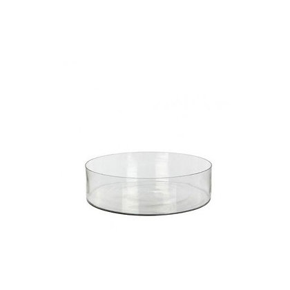 Vase plateau en verre